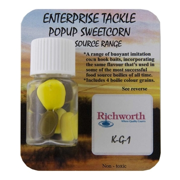 Enterprise Tackle Pop Up Sweetcorn Richworth KG1 yellow