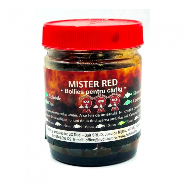 Dudi Bait Mister Red Hook Boilies Soluble In Dip